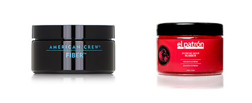 Two mens hair styling products